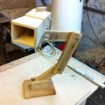 Holzlampe aus Holzresten