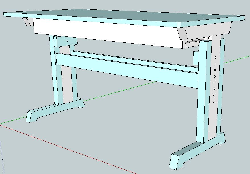 Kinderschreibtisch höhenverstellbar selber bauen  höhenverstellbarer Kinderschreibtisch - Der Kellerwerker