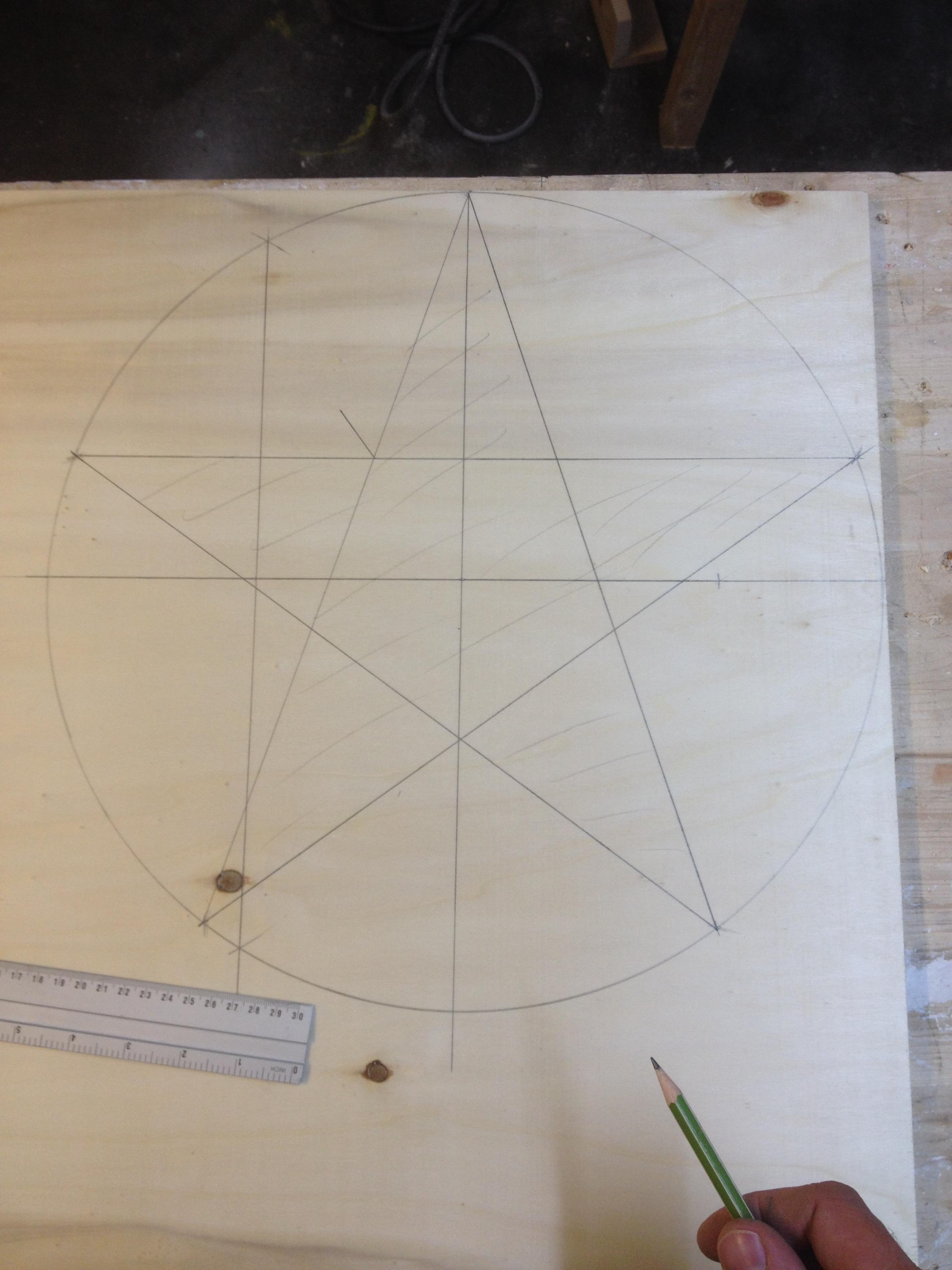 Ohne zirkel zackiger 5 stern zeichnen 5 Zackiger